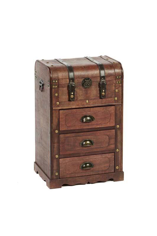 Cassettiera in legno Marrone