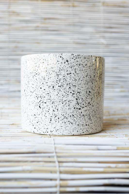 Cilindro in ceramica Avorio e Nero