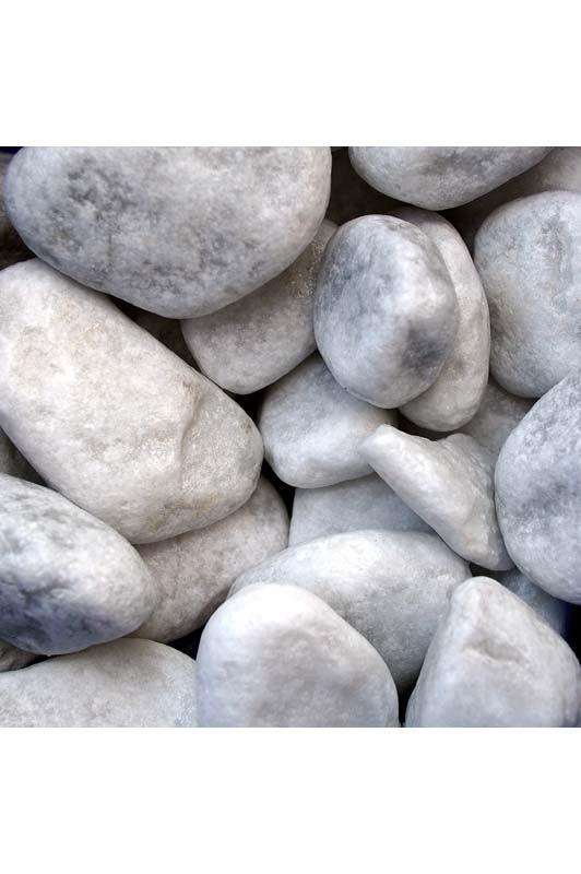 Ciotoli di marmo carrara Bianco