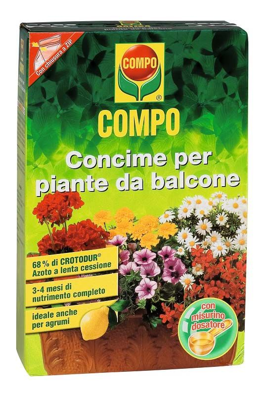 Concime granulare per piante da balcone