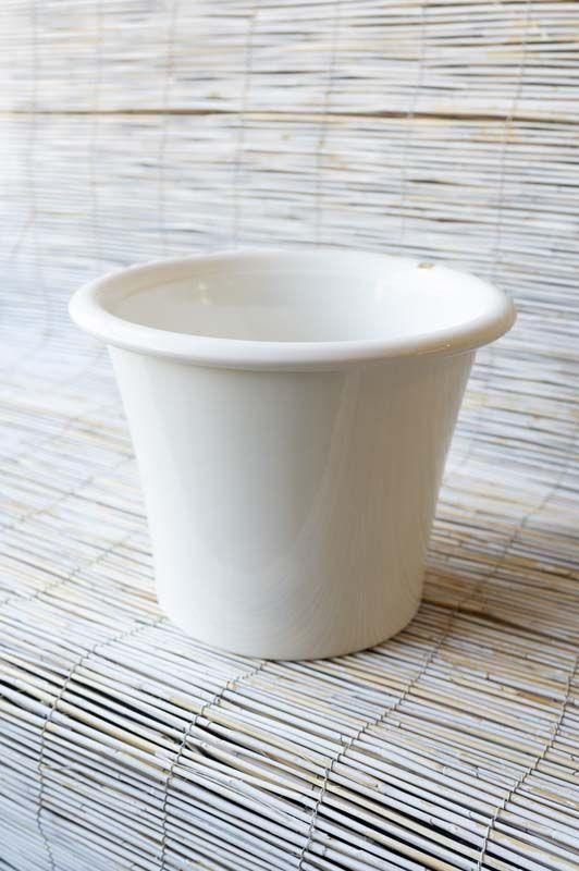 Coprivaso Facciolini Conico in ceramica Bianco
