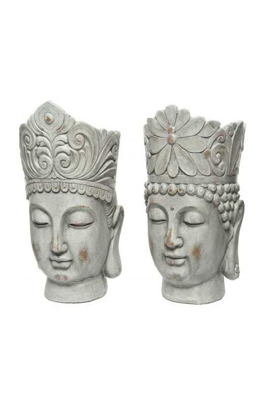 Coprivaso testa di Buddha Grigio