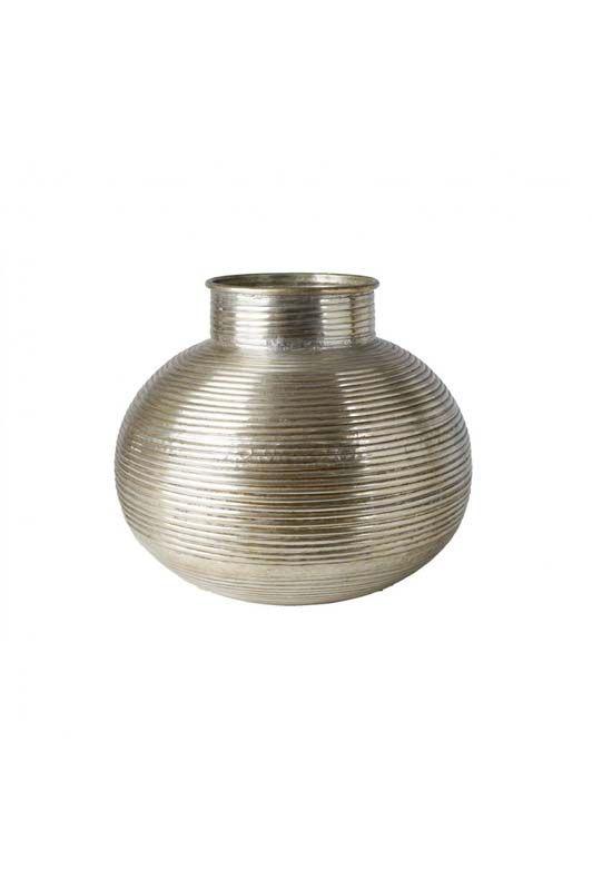 Coprivaso Athezza bombato cerchiato argento