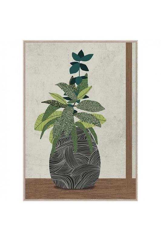 Quadro in fibra deco vaso con piante